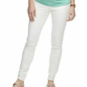 A Glow Maternity White Full Band Jean Jeggings 18